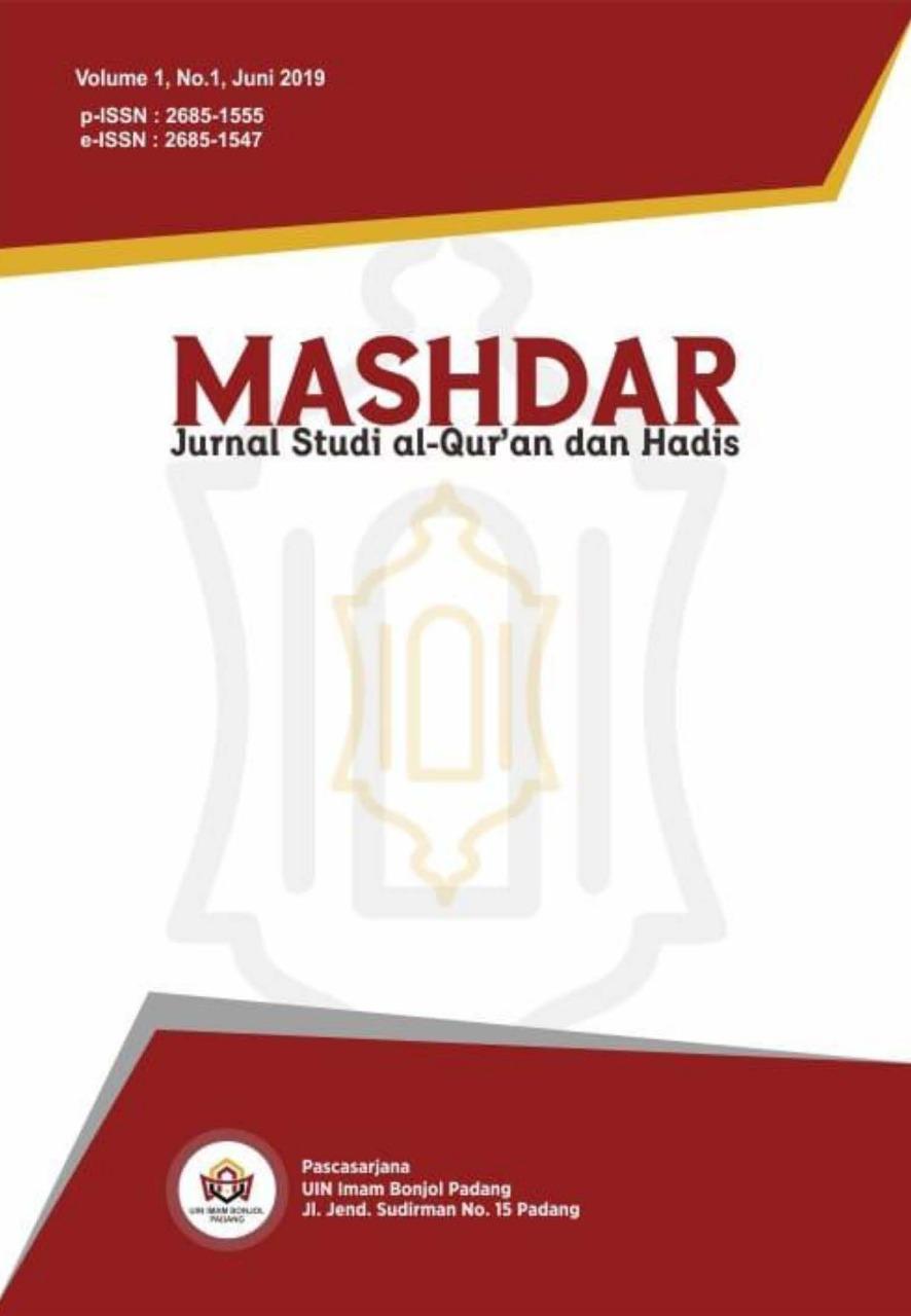 Mashdar: Jurnal Studi al-Qur'an dan Hadis